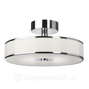 Dimmbare led deckenlampe lounge in wei chrom kaufen for Dimmbare wohnzimmer deckenleuchten