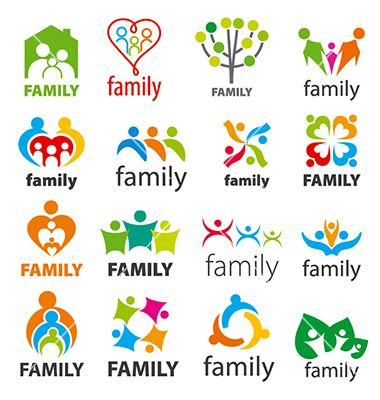 Large collection of logos family vector | CCCov | Pinterest | Logos ...
