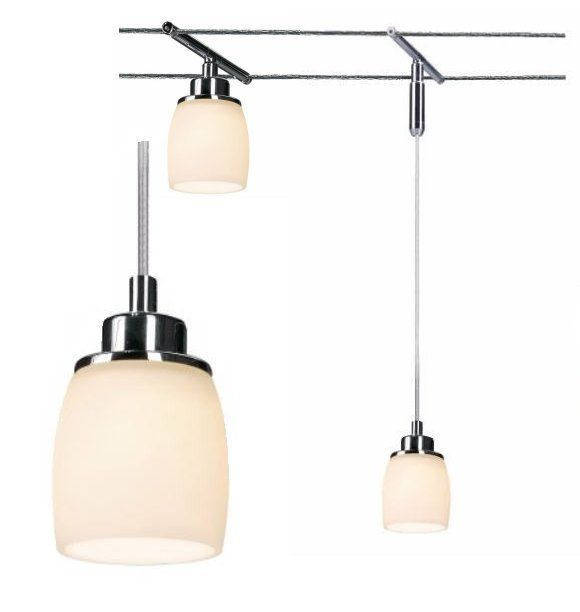 Tension Wire Mounted Short Pendant Kitchen Lighting Ceiling
