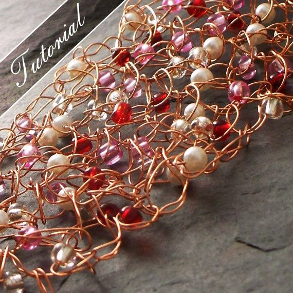 Jewelry Tutorial. Wire Crochet with Beads, Step by Step Photos ...