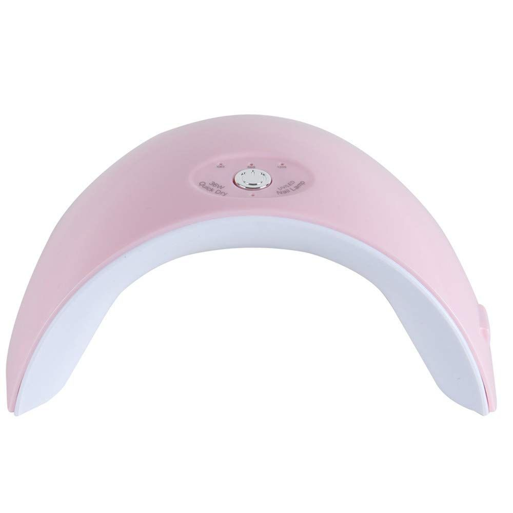 Tfscloin 36w Uv Led Lamp Nail Dryer 12 Leds Gel Polish With 60s 120s Timer Usb Connector Nail Art Tools For Home And Salon Pink In 2020 Uv Led Nail Dryer Gel Nail