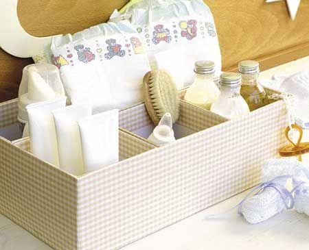 Cajas forradas para accesorios del bebe manualidades - Cajas decoradas para bebes ...