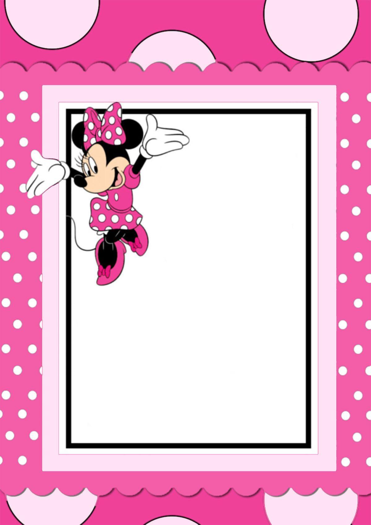 free printable minnie mouse invitation