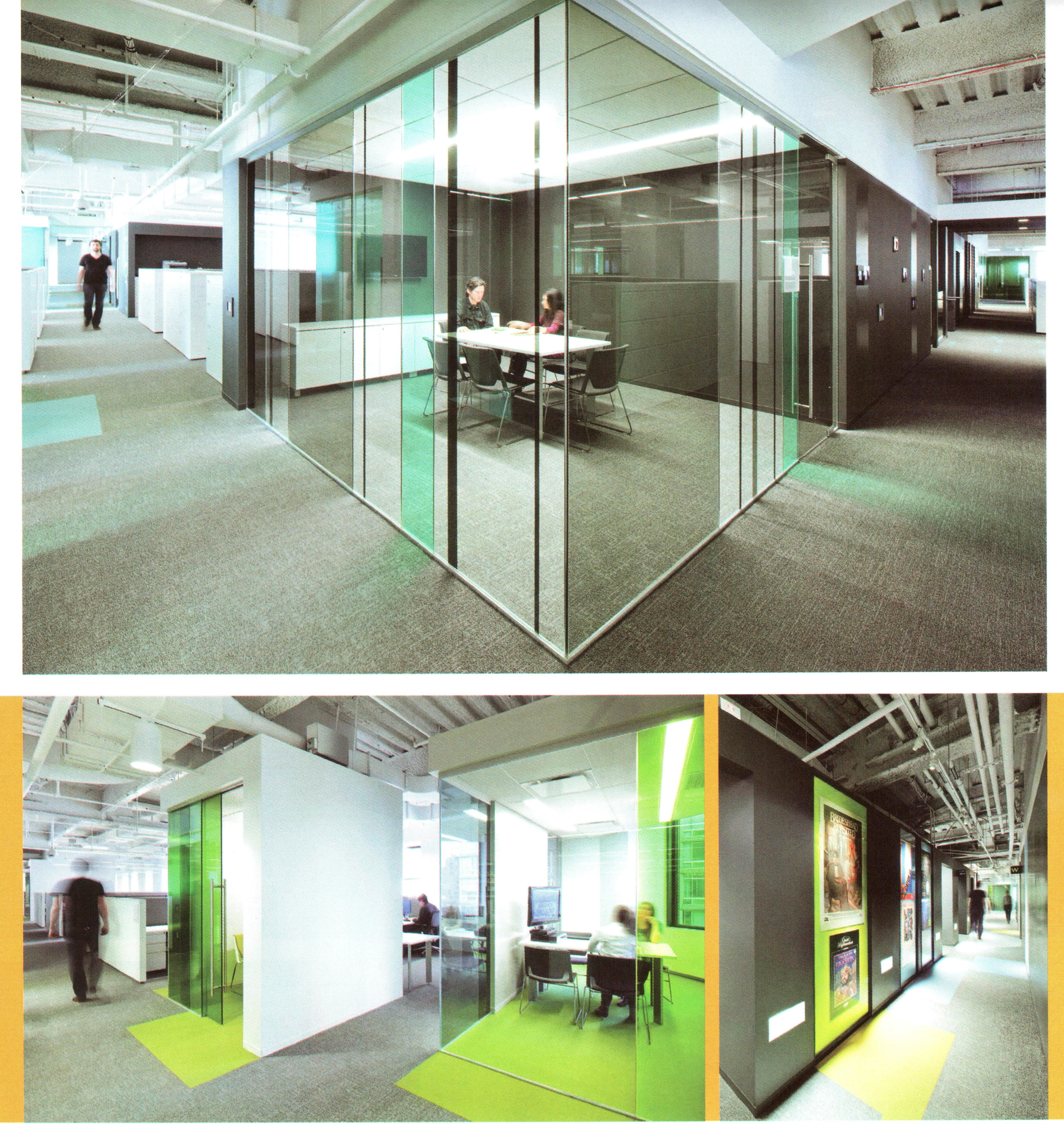 Glass partitions with tinted film interiores pinterest for Oficinas decoracion interiores