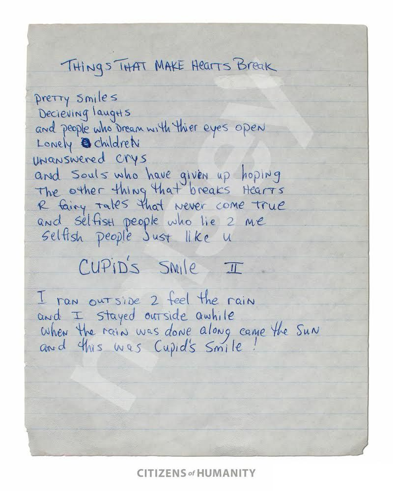 Read These Previously Unreleased Handwritten Poems By A 17 Year Old
