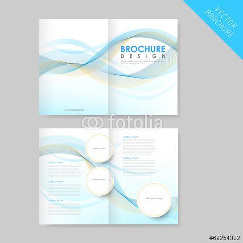 ベクター modern streamlined half-fold brochure template点 試 - half fold brochure template