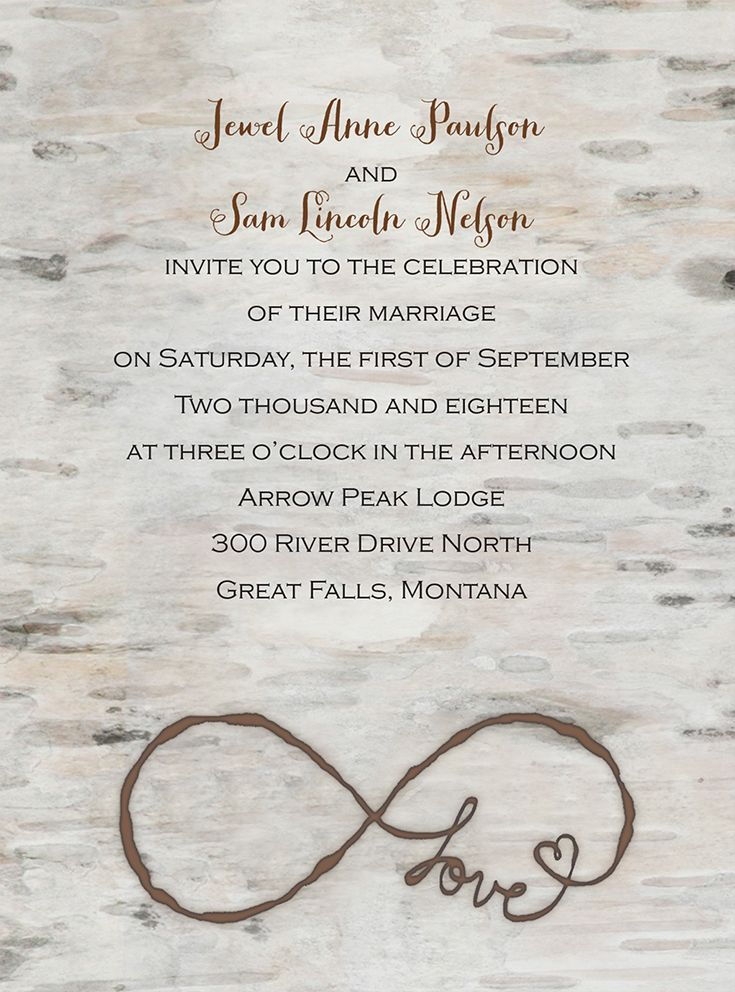 Love for Infinity - Petite Invitation | Infinity symbol, Romantic ...