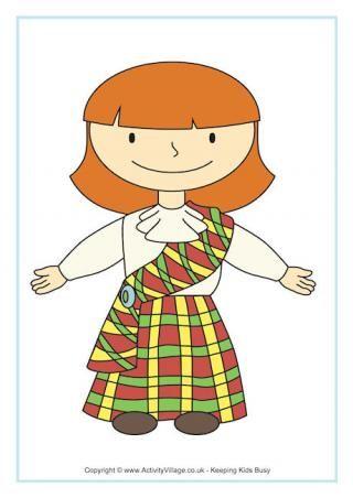 Scottish girl poster