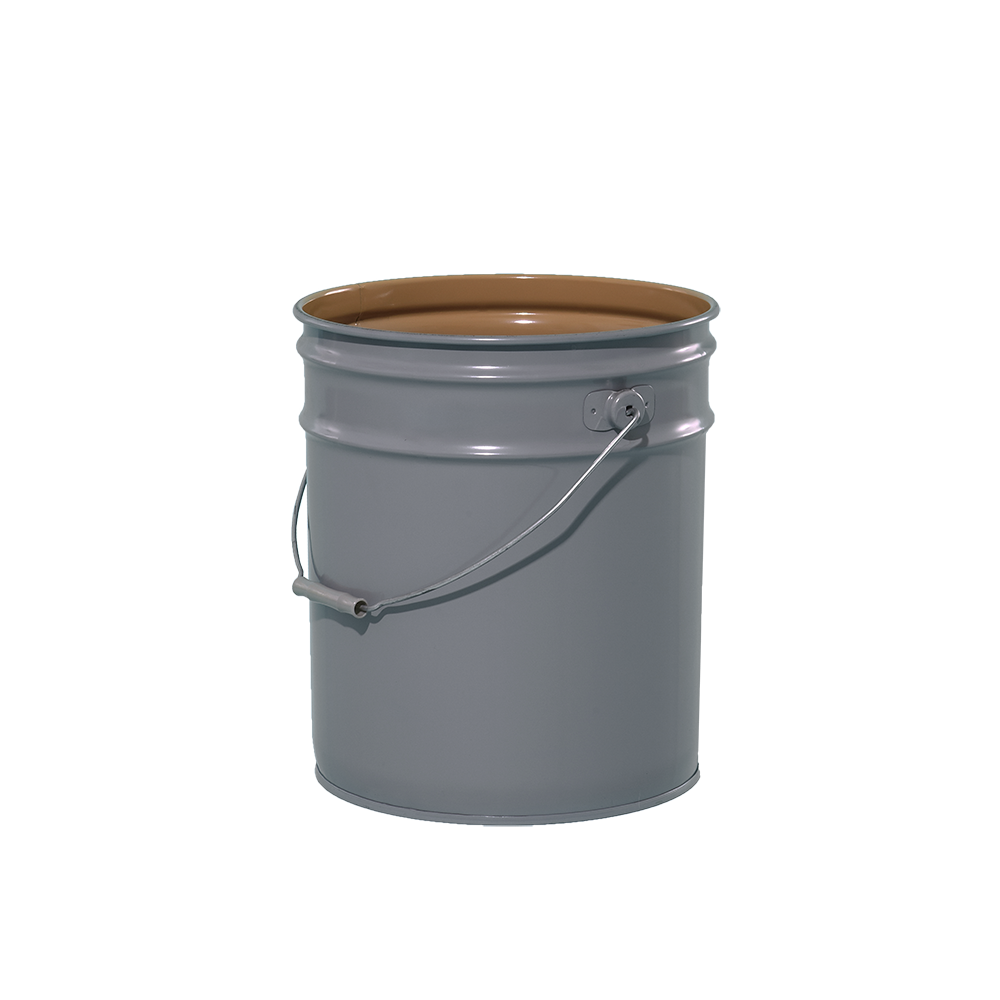 Illing Part 2110 5 Gallon Grey 28 26 Gauge Metal Open Head Pail W Buff Lining Un Rated Steel Open Head Pails Are Available In Pail Metal Containers Metal