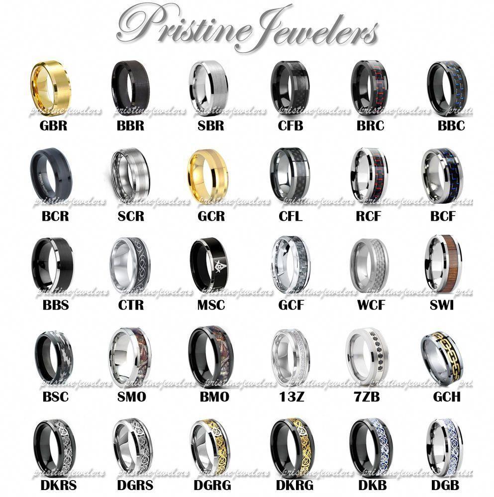 Tungsten Carbide Ring Comfort Fit Wedding Band Men Silver