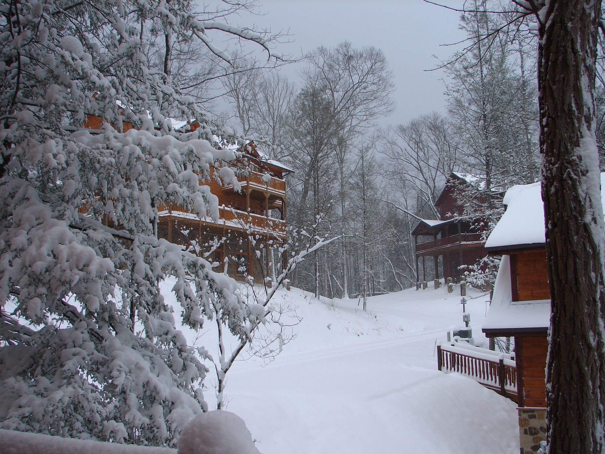gatlinburg tn get snowed into a luxury cabin this winter