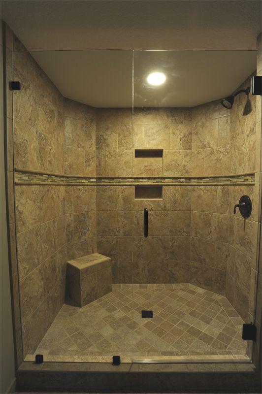Huge walk in shower done by Royal Palm closet design & fine ...