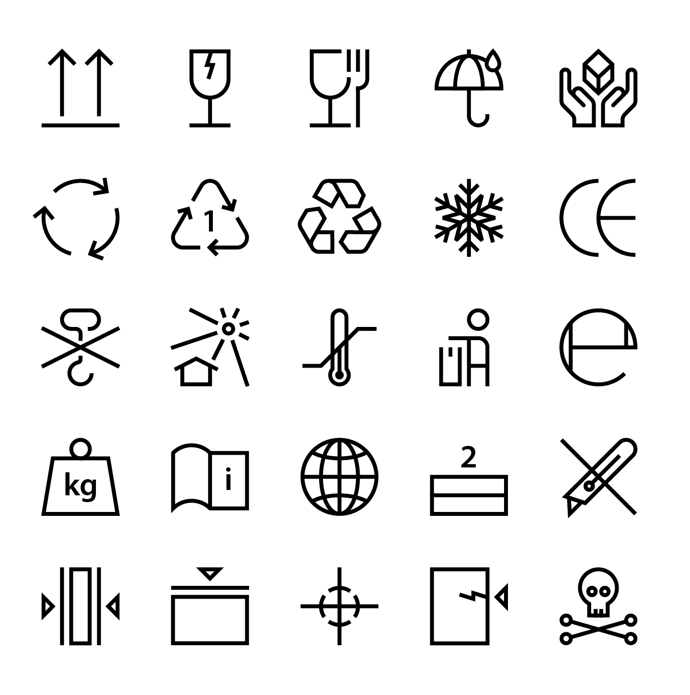 Free Freight And Postage Symbols