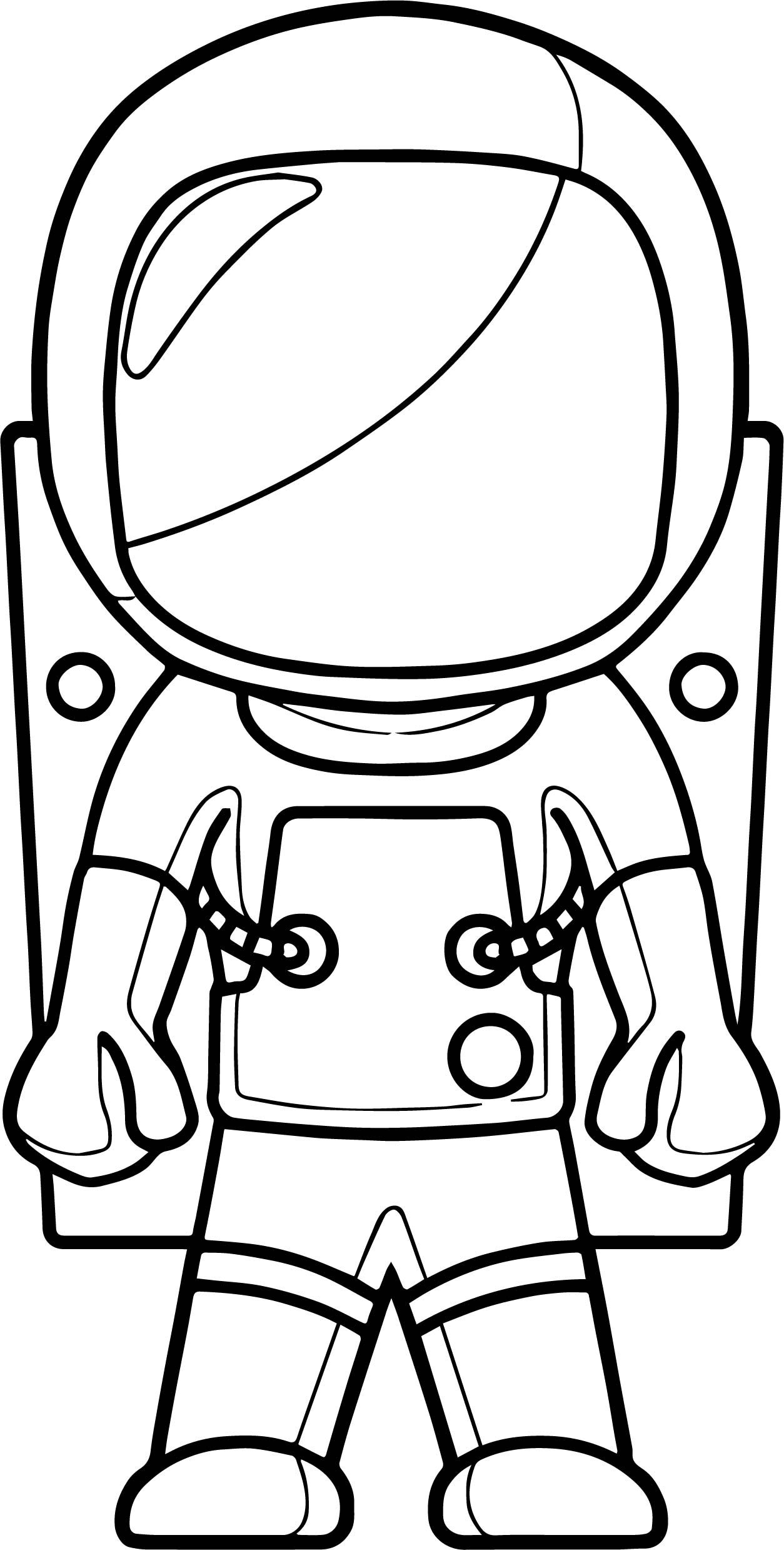 Nice Closed Astronaut Coloring Page Space Coloring Pages