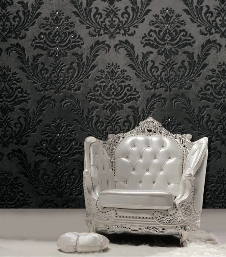 papier peint baroque 30 id es de luxe et exub rence la maison papier peint 3d pinterest. Black Bedroom Furniture Sets. Home Design Ideas