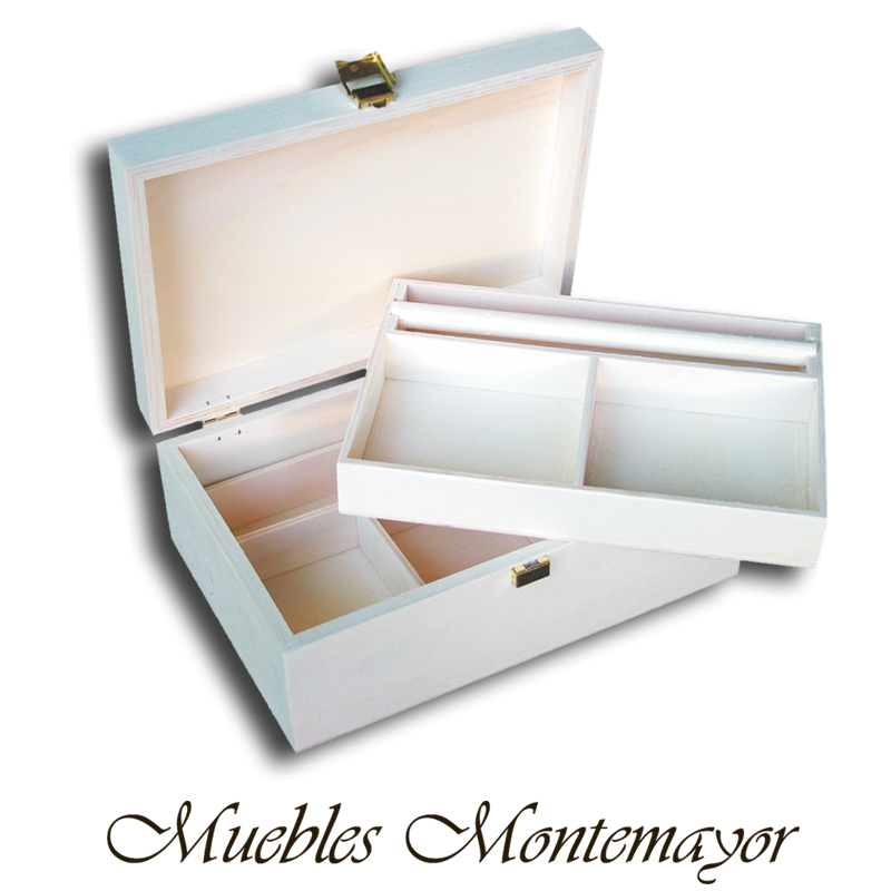 CAJA DE CHOPO CON DIVISIONES 9,25 € #caja #cajademadera #cajaaencrudo #designandwood #box #woodenbox