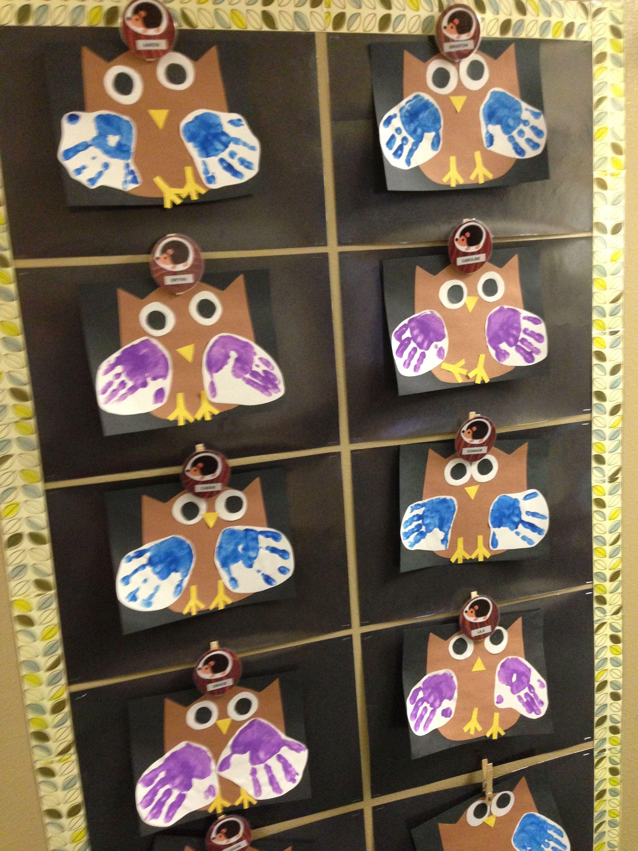 My Class Project Handprint Owl Preschool Craft