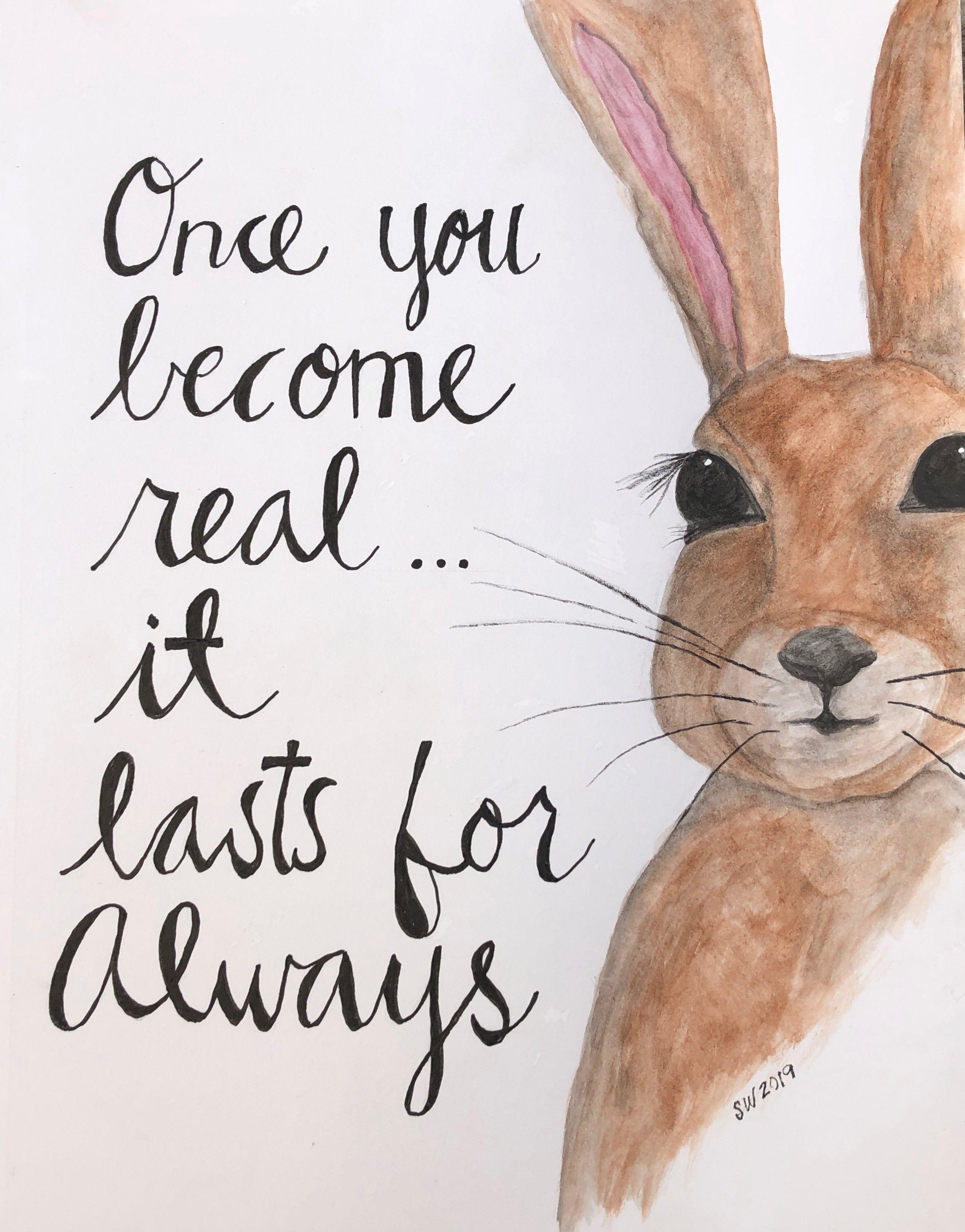 Velveteen Rabbit Quote Watercolor