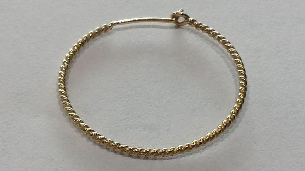 Retired James Avery 14k Twisted Wire Hoop Earrings Single Jamesavery Hoop Wire Hoop Earrings Fine Earrings Gold