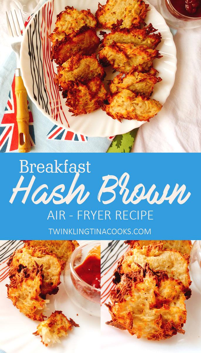 Hash Brown Recipe Air fryer Recipe Vegan Breakfast