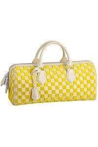 Louis Vuitton Yellow Speedy East, West Bag.
