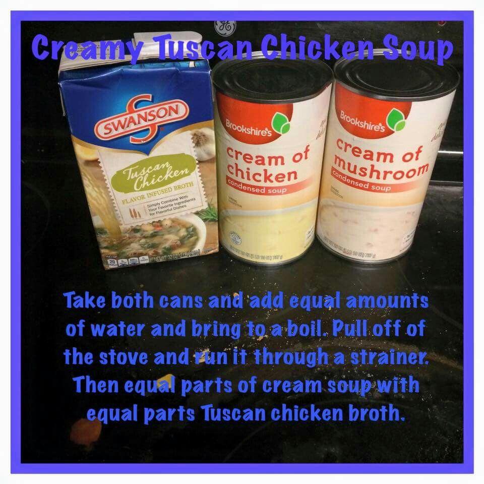 Creamy Tuscan Chicken Soup Bariatric Liquid Phase