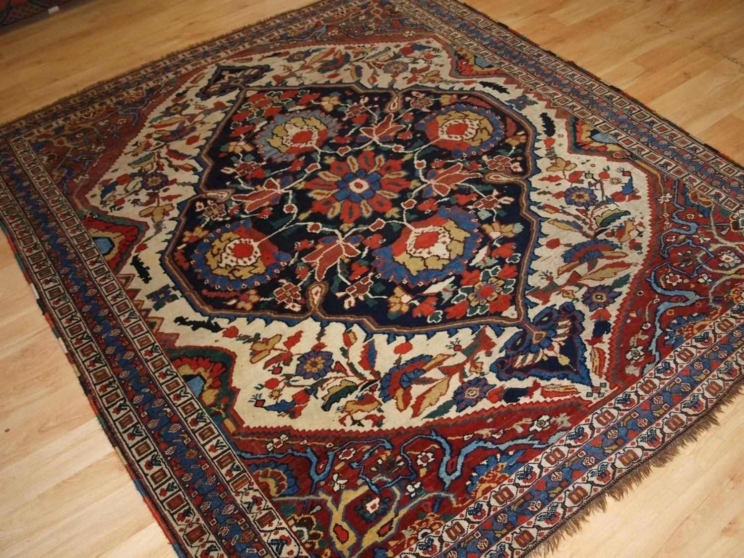 antique south west persian khamseh tribal rug 19th century from a unique collection of