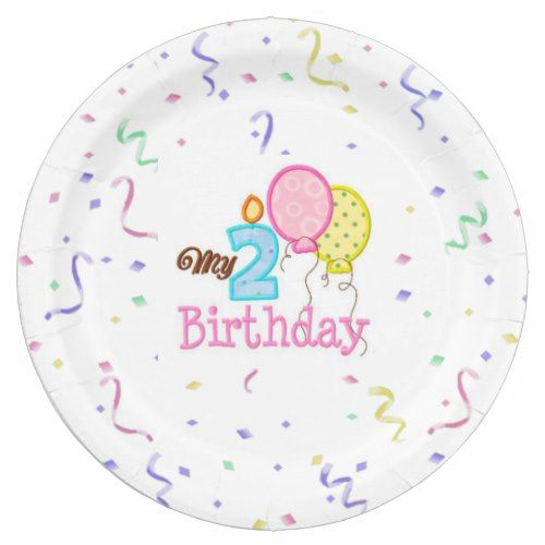 Paper Plates/My Second Birthday with Confetti Paper Plate  sc 1 st  Pinterest & Paper Plates/My Second Birthday with Confetti Paper Plate   Confetti ...