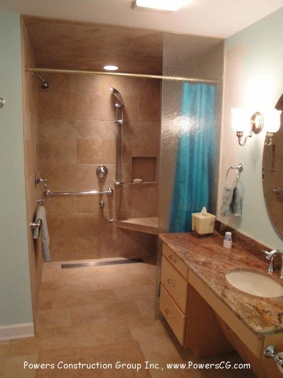 roll in showers - Google Search   wheelchair shower   Pinterest ...