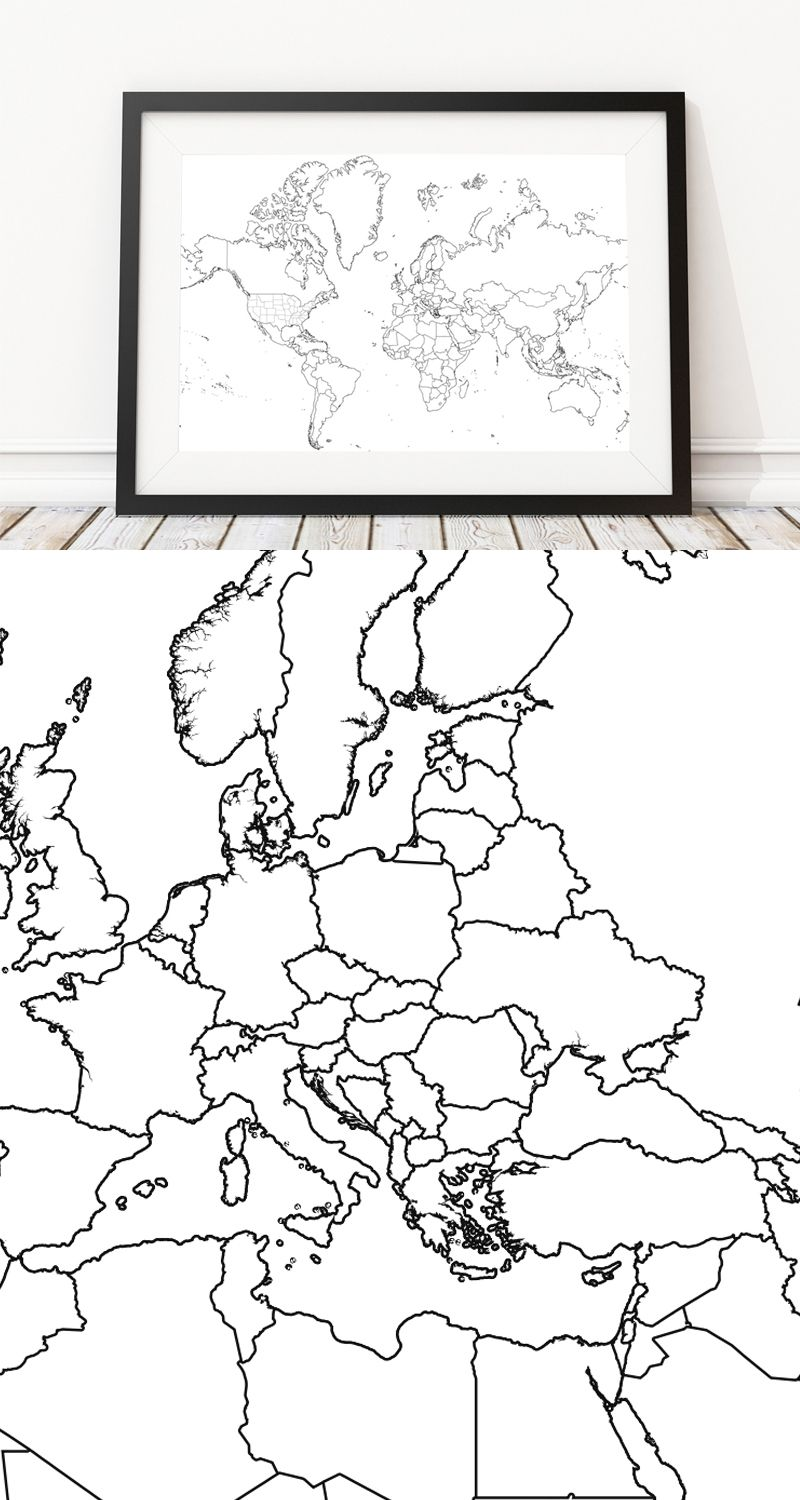 Httplandmassgoodsproductscolor me world map outline poster httplandmassgoodsproductscolor me world gumiabroncs Gallery