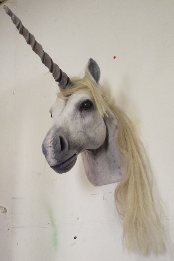 Faux Taxidermy Unicorn Head Animal Friendly Decorative Art