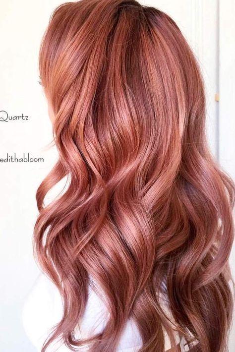 Haarfarbe rosegold