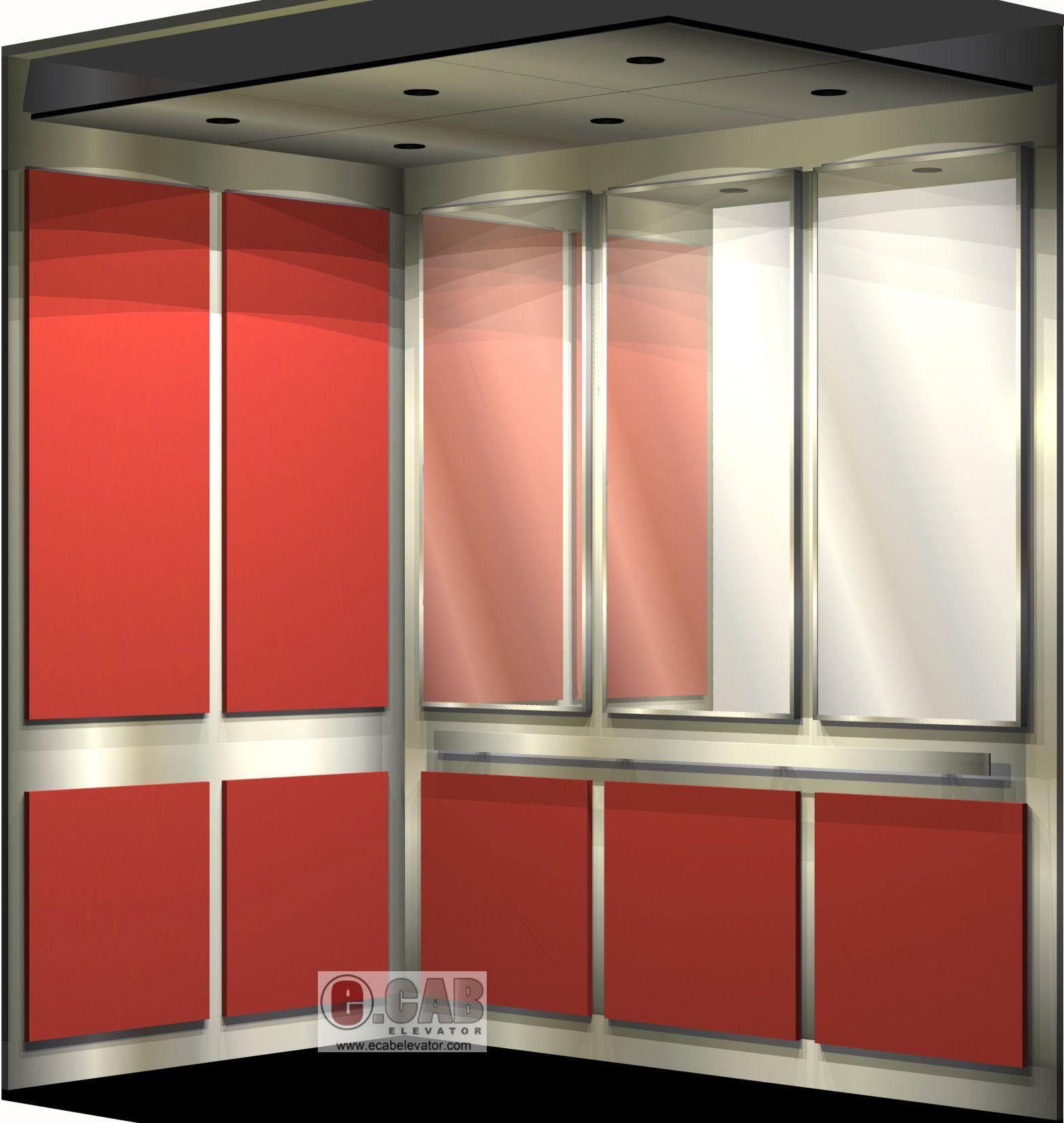 e.cab elevator - interior design rendering - 4500# capacity