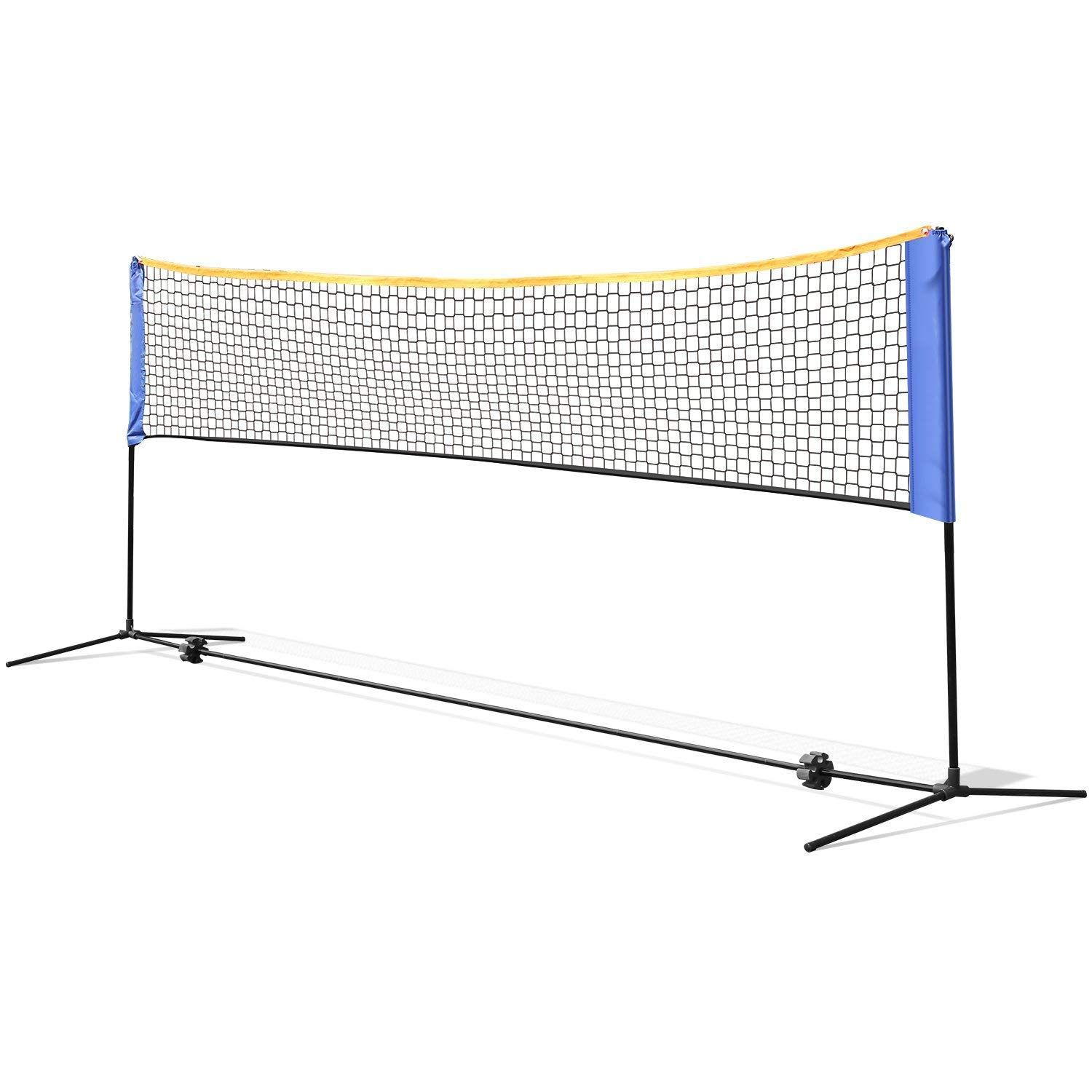 Femor Portable Badminton Tennis Net 13 Ft Net For Soccer Tennis Kids Volleyball Beach Ball Sports Net With Pole Tennis Nets Kids Volleyball Soccer Tennis