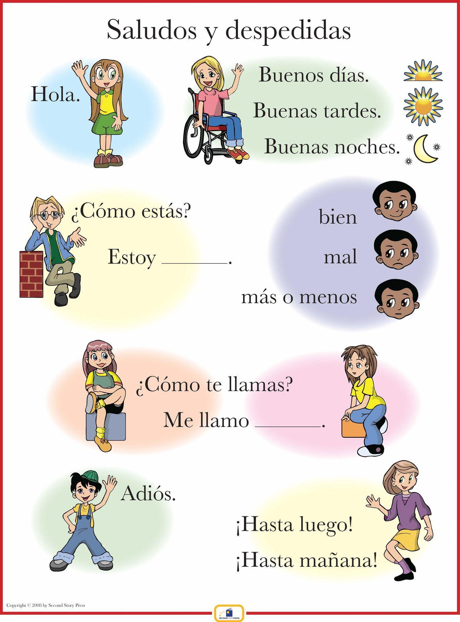 Spanish Greetings Poster