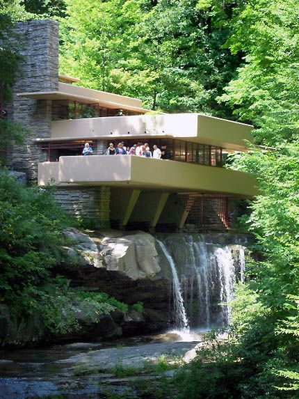 Frank Lloyd Wright Fallingwater Design Architecture Pinterest