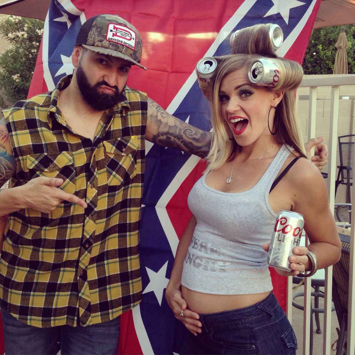 hillbilly redneck party beer can rollers were a hit