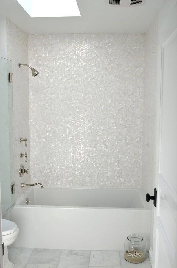 31 White Glitter Bathroom Tiles Ideas And Pictures Bathroom Shower Tile Bathrooms Remodel Bathroom Makeover