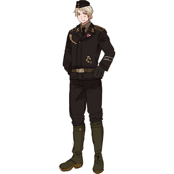 Prussia ❤ liked on Polyvore featuring hetalia, anime, aph prussia and characters