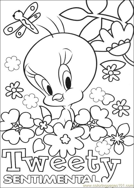 tweety 64 coloring page - Tweety Bird Coloring Pages