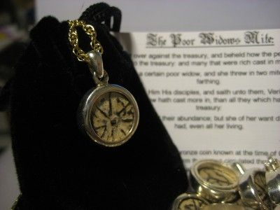 Biblical Widows Mite Coin in Sterling Silver pendant, we have a great selection!!!!