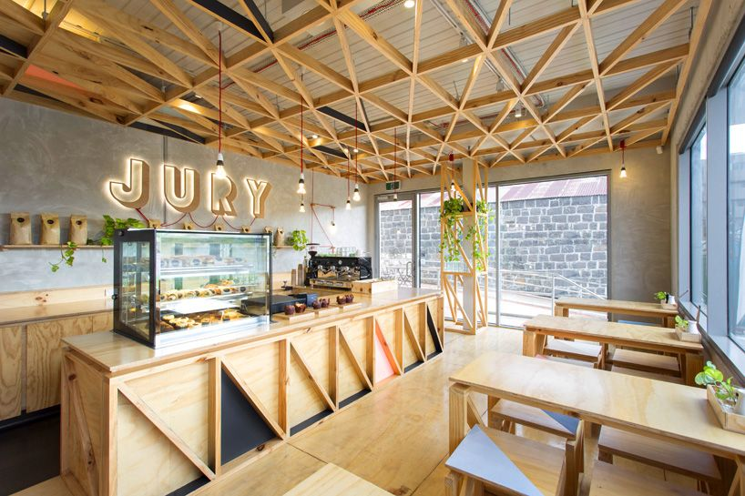 Jury cafe by biasol design studio constructed from a mix for Table 66 jury