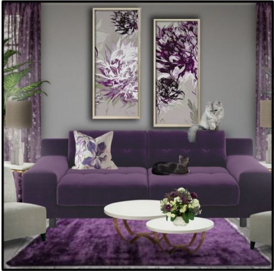 It's likely you and your guests will spend countless hours in this room, discussing and entertaining. fashionsafford   Purple living room, Living room design ...