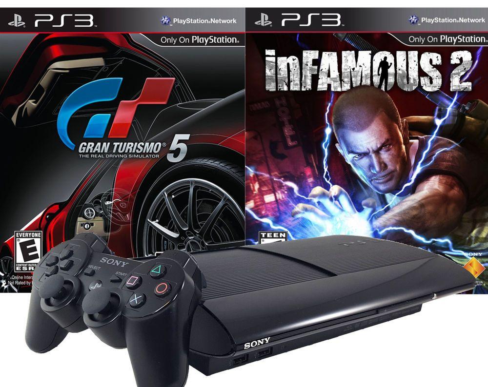 Playstation 3 Super Slim 500GB Gran Turismo 5 Infamous 2 Legacy