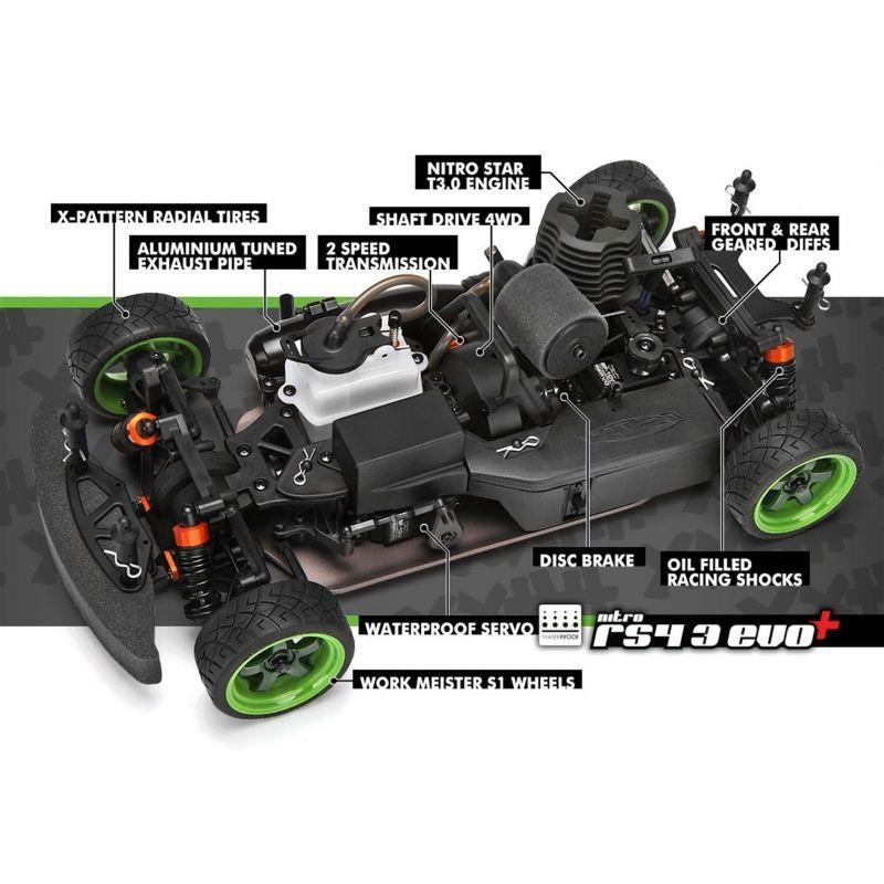 Hpi Sprint Sport Rtr Mustang Rtr X Body Rc Bil Onroad