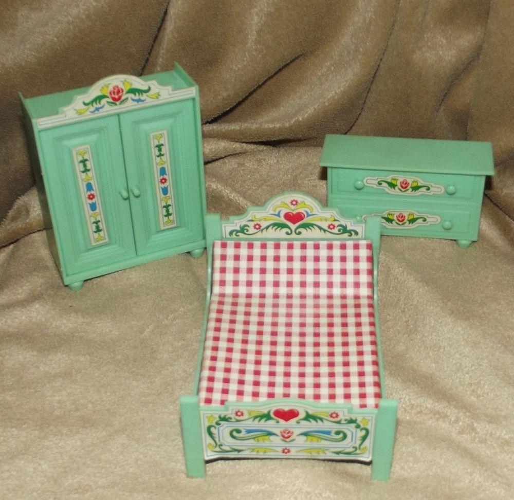 ebay schrank mit bett, miniatur puppenmöbel möbel puppenstube jean schlafzimmer schrank, Design ideen