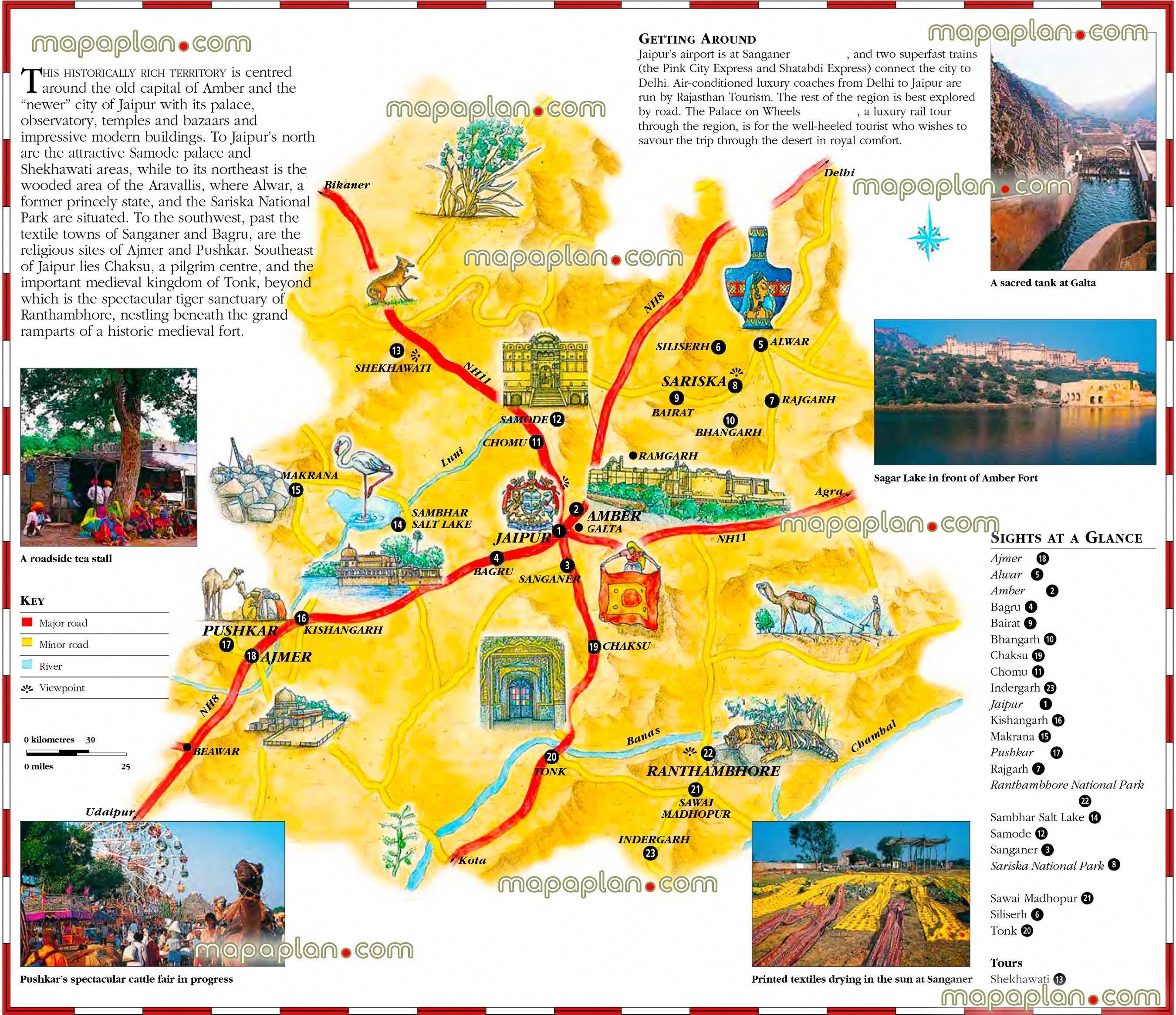 Jaipur Tourist Map jaipur rajasthan metro region area india downloadable tourist