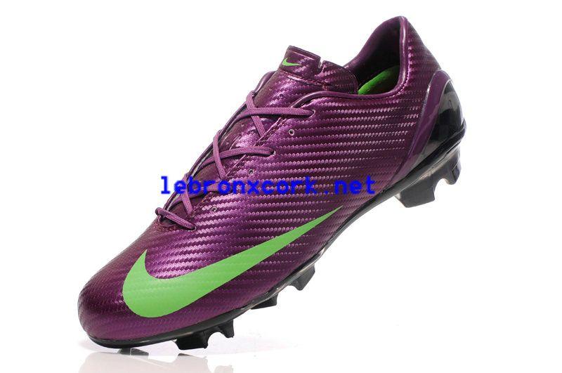 2013 Purple Green Nike Mercurials Sl Carbon Fibre Limited Edition Fg Cleats