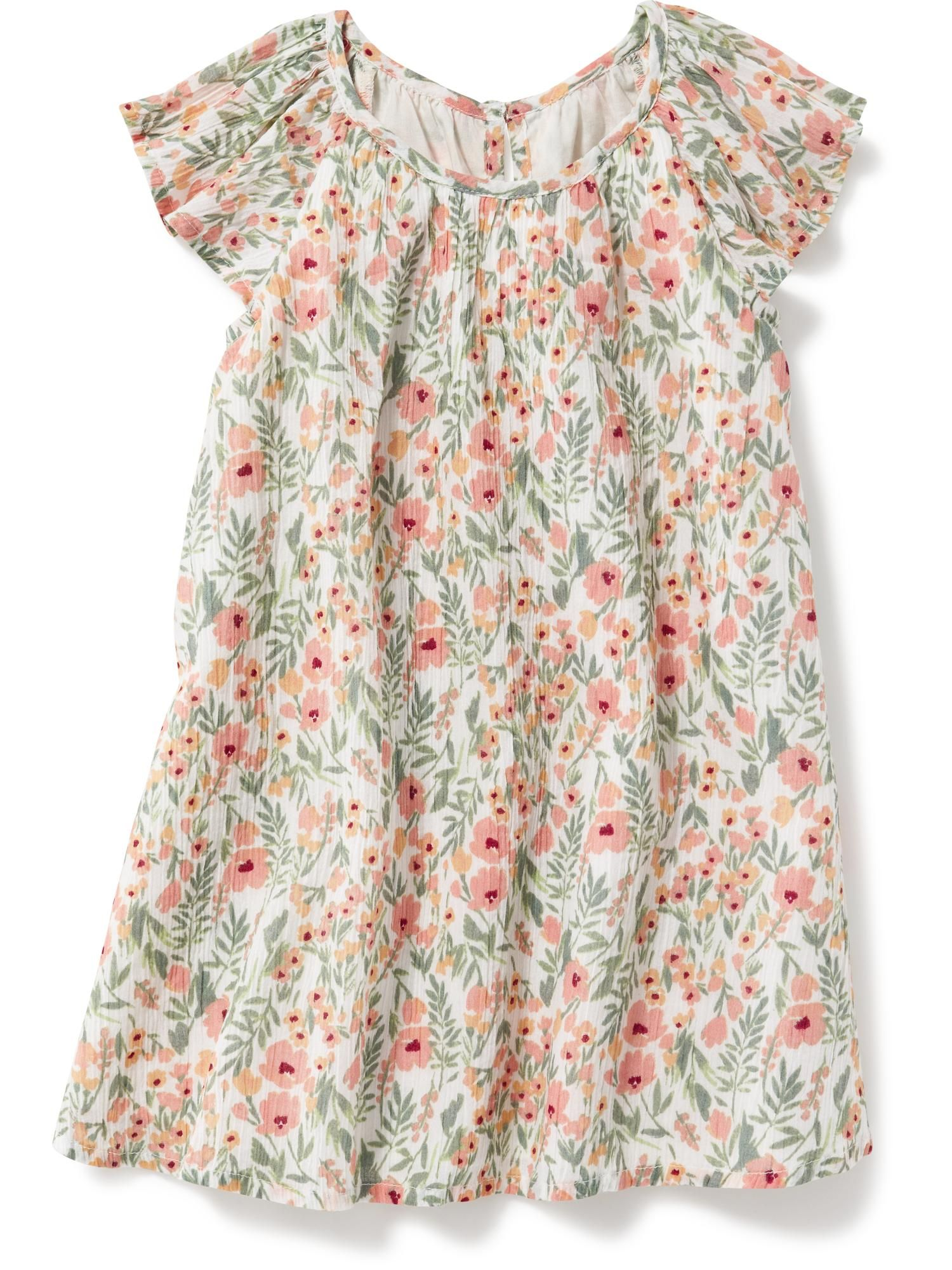 Printed Flutter Sleeve Dress for Baby Old Navy