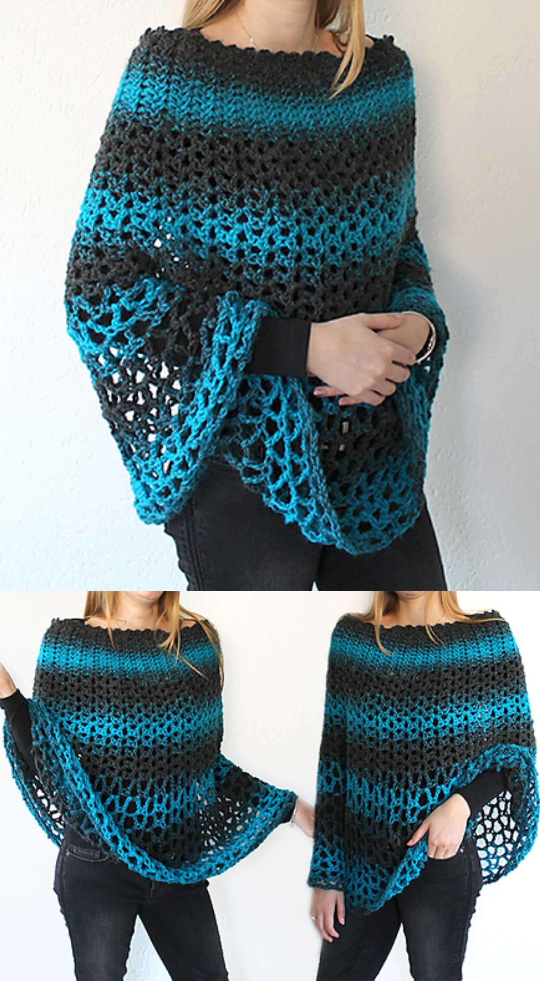 Crochet Perfect Poncho #crochetscarves